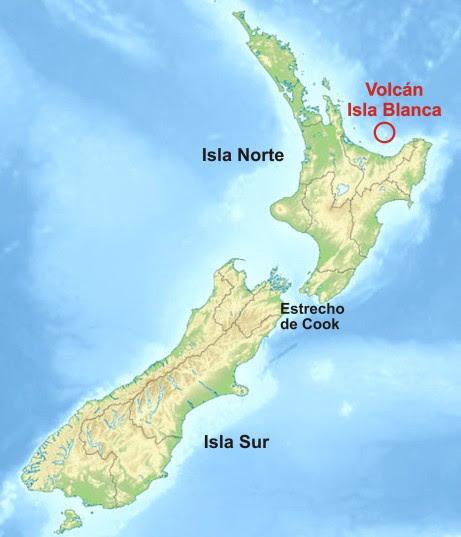 Ubicación volcan Isla Blanca Indagadores mn2