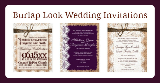 Burlap And Lace Wedding Invitations Rustic Country Wedding Invitations