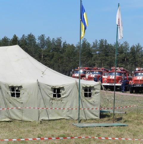 На Херсонщине тренировались тушить лесные пожары