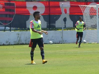 Leo Moura, Treino do Flamengo (Foto: Carlos Mota / Globoesporte.com)
