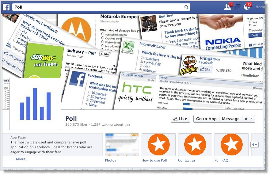 Poll Encuesta aplicación para Facebook