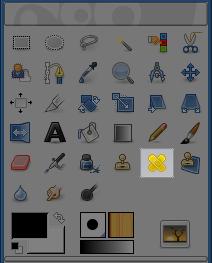 Lo strumento cerotto nel pannello strumenti