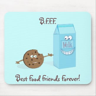 Best Food Friends Forever Mousepad mousepad