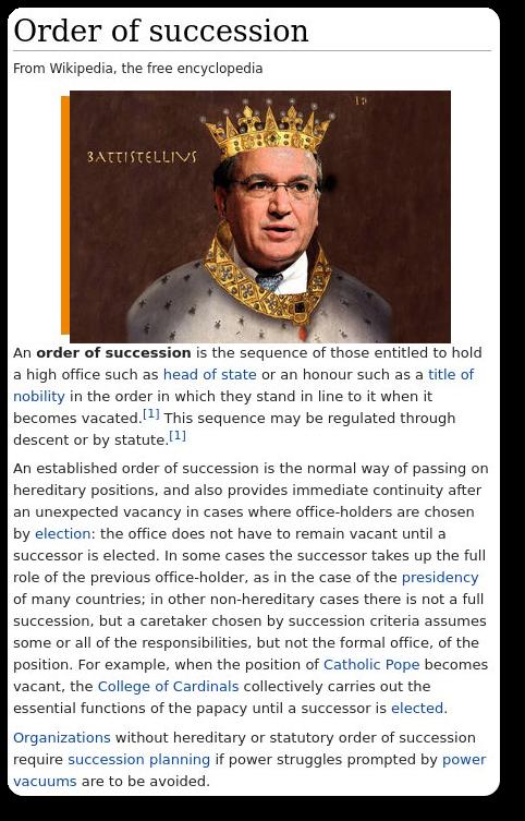 Order of succession