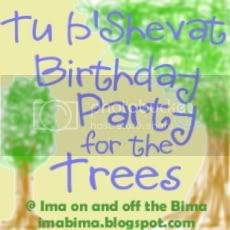 Tu B'Shevat Birthday Party for the Trees at imabima.blogspot.com