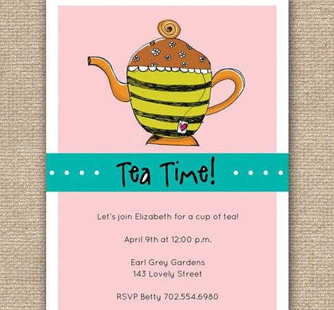 DIY Tea Party Invitation Design