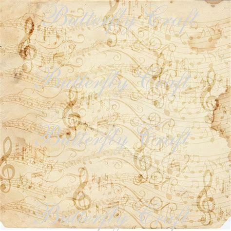 Music notes scrapbook paper, vintage music digital paper