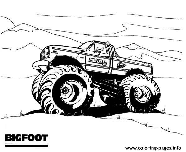 Bigfoot - Free Colouring Pages