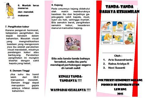 novi cuah leaflet tanda tanda bahaya kehamilan