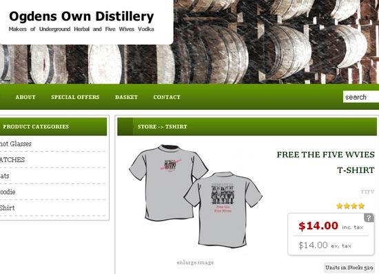 Fabricante da vodca vende camisetas pedindo liberação da venda de bebida em Idaho