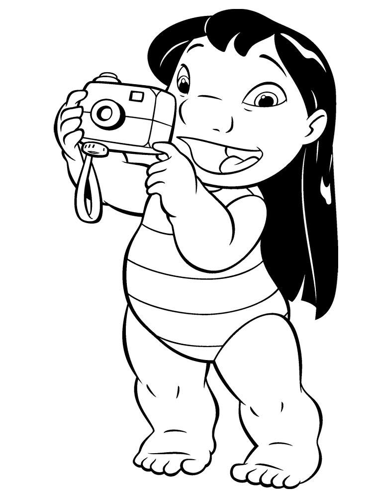 Imprimir Dibujos Para Colorear Lilo Y Stitch Para Niños Y Niñas