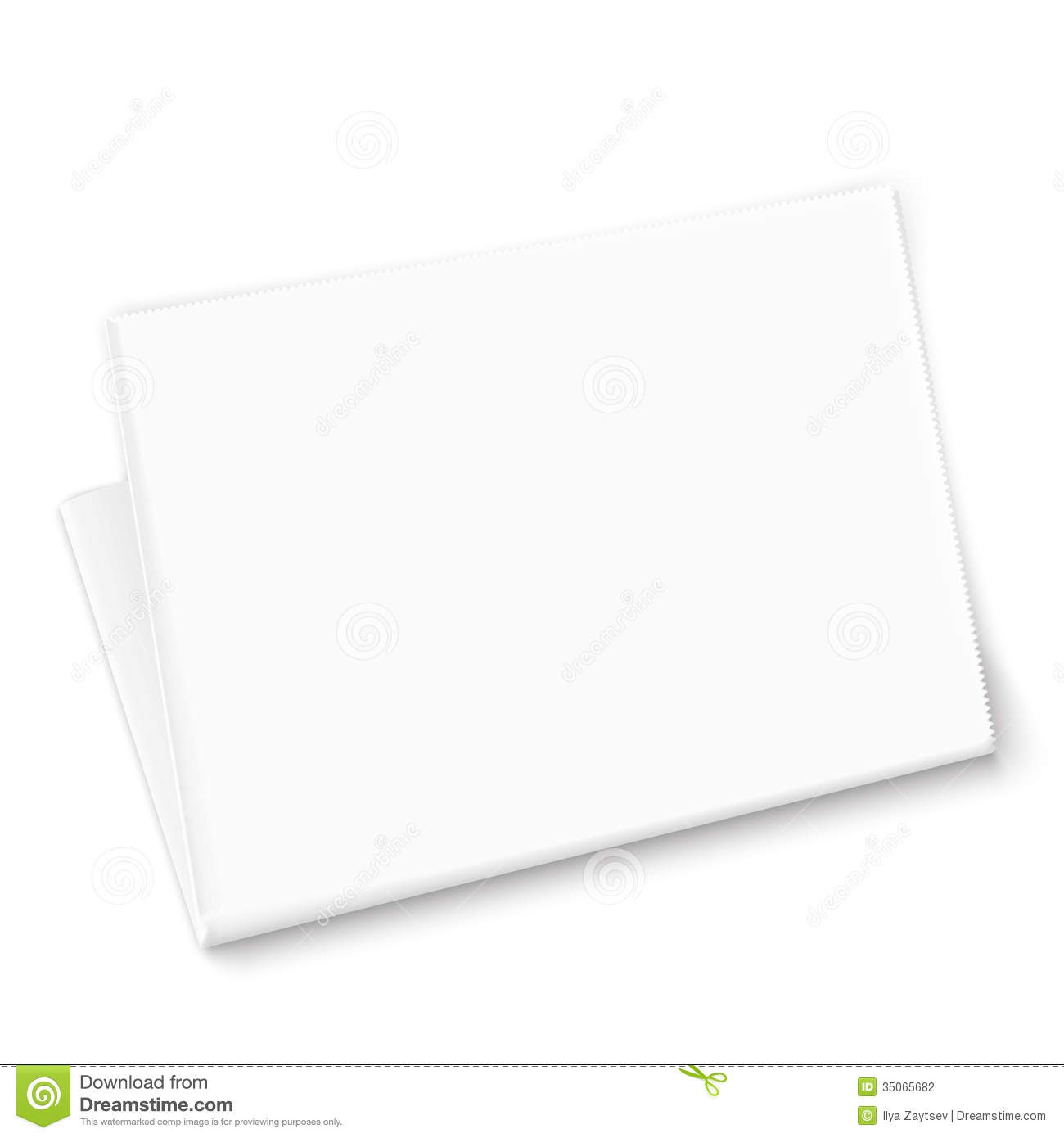 Blank Newspaper Template. Stock Photography - Image: 35065682