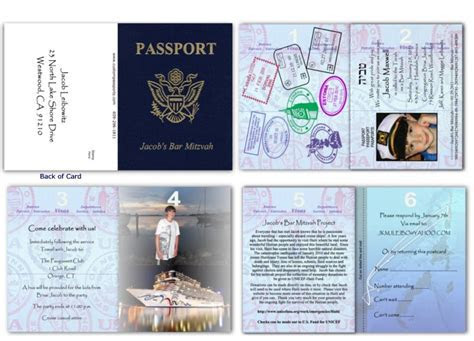 Passport 25, Bar Mitzvah   Custom Passport Invitations