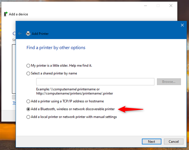 Agregar una impresora inalámbrica desde el Panel de control