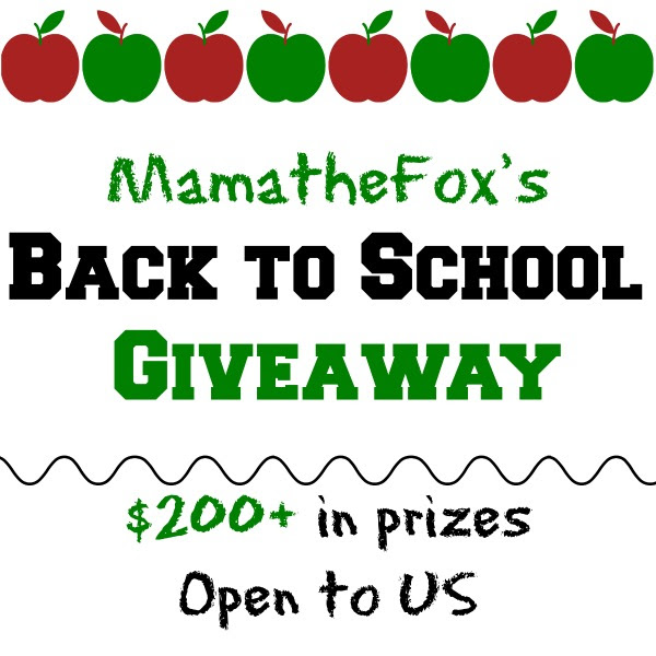 Enter the MamatheFox's Back to School Giveaway. Ends 9/1
