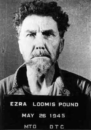 A defiant Ezra Pound, photgraphed immediately after his arrest in 1945