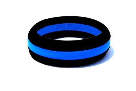 Fit Ring Silicone Wedding Ring Women's Thin Blue Line for