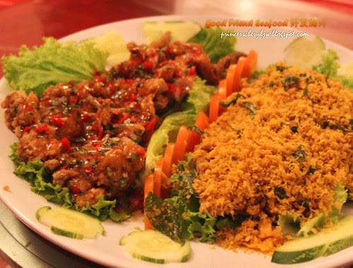 Good Friend Seafood Nestum Chicken and Sour Plum Chicken