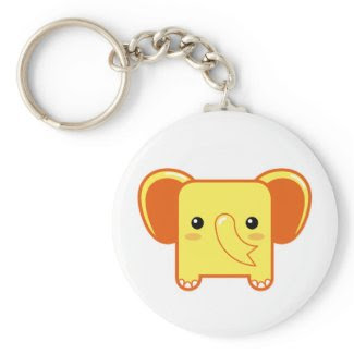 Today's Best! Kawaii elephant keychain