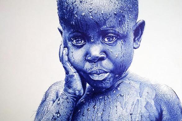 Ο καλλιτέχνης που δημιουργεί μαγικές εικόνες μόνο με... στυλό (pics)