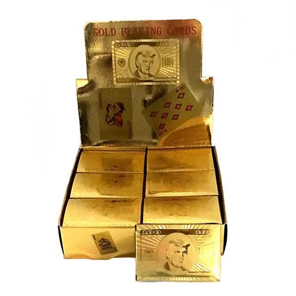 Gold Donald Trump playing cards - The Dixie Shop