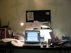 my desk at home while i am writing dissertation