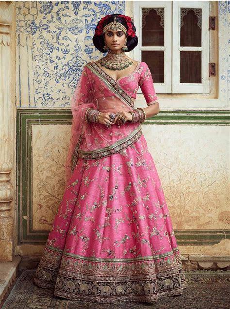 Buy Sabyasachi Designer Bridal Lehenga Cholis Online