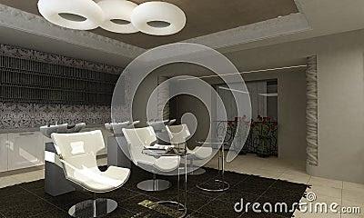 Interior Design Home Photo Gallery on Modern Interior Design Beauty Salon Royalty Free Stock Photos   Image