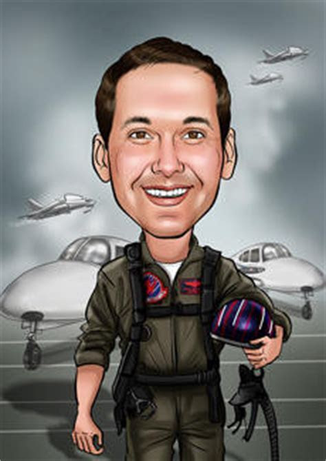 Top Gun   Bill and Ben The Cartoon Men   Caricatures from