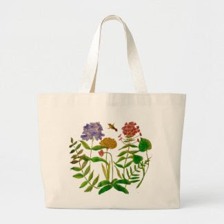 Botanical Illustration on Tote Bag