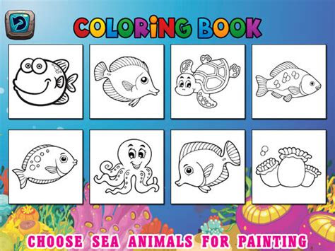 sea animals kids coloring pages vocabulary games review