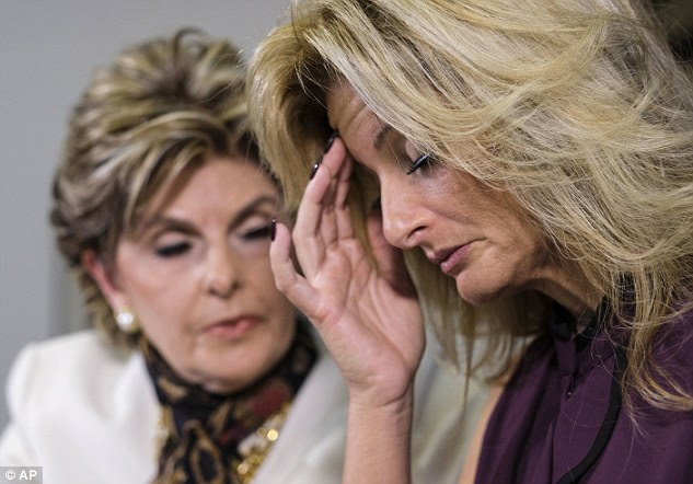 Being heard: 'You do not have the right to treat women as sexual objects just because you are a star,' said an emotional Zervos