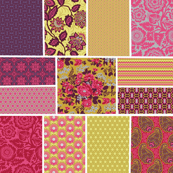 Joel Dewberry Heirloom the Ruby Palette -- Giveaway from Moona Fabrics