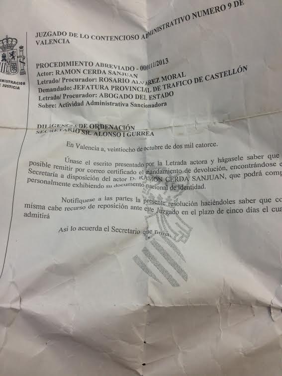 #mandamiento de devolución