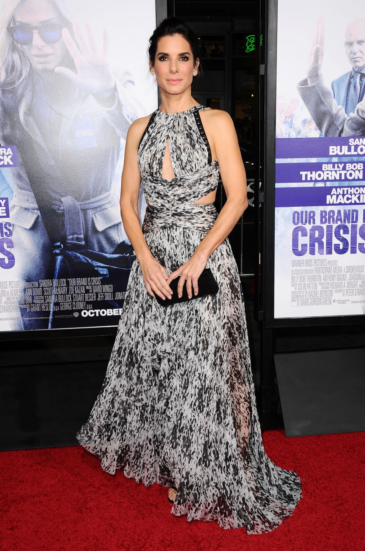 SANDRA BULLOCK at Our Brand Is Crisis Premiere in Hollywood 10/26/2015