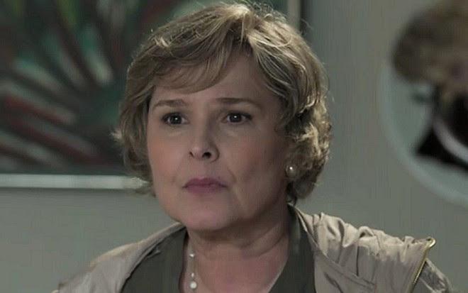 Gema (Louise Cardoso) dará ultimato no marido após sumiço do filho adotivo - Reprodução/TV Globo