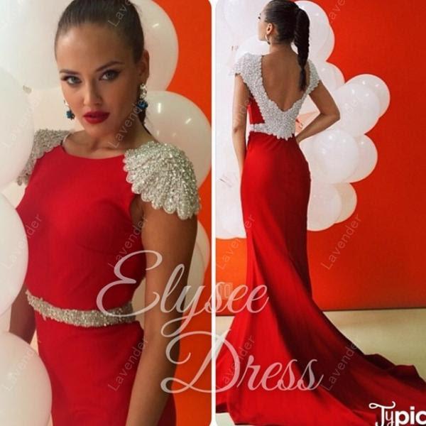 Beautiful red evening dress