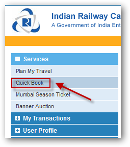irctc quick ticket booking