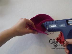 tutorial come fare svuotatasche portagioie feltro fai da te 33