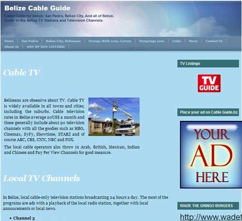 Stolen content. Belize Cable Guide                                 is a content thief
