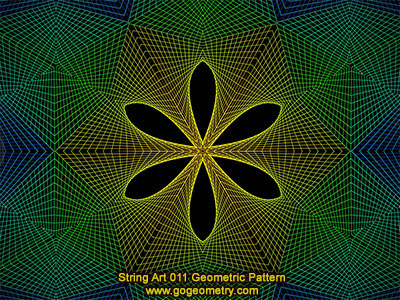 String Art 11: Bézier curves, Geometric Pattern, Symmetry, Software.