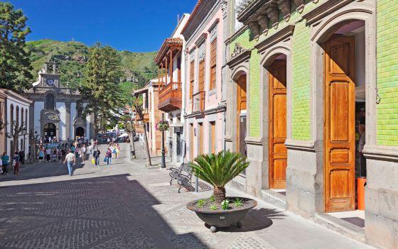 Calle Real del pueblo de Teror, Gran Canaria
