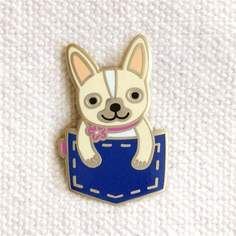 Pocket Frenchie ? Enamel Pins ? Gifts « Night Owl Paper