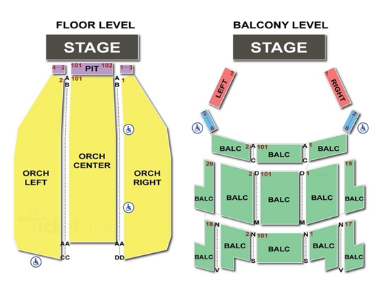 Saenger Theater Seating Chart
