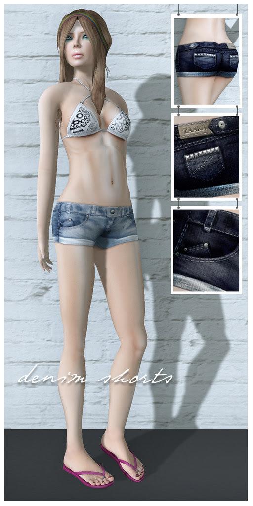 {Zaara} : Denim shorts