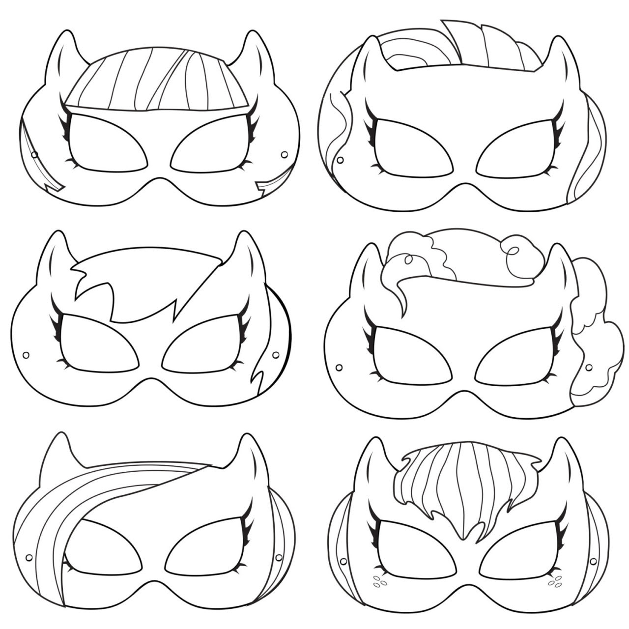 iLLustrations — Pony Printable Coloring Masks, pony costume, pony...