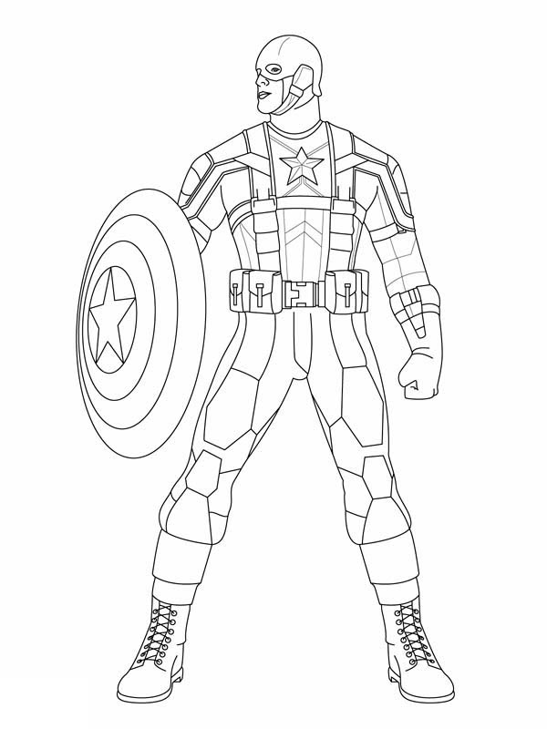 Capn Marvel Coloring Pages