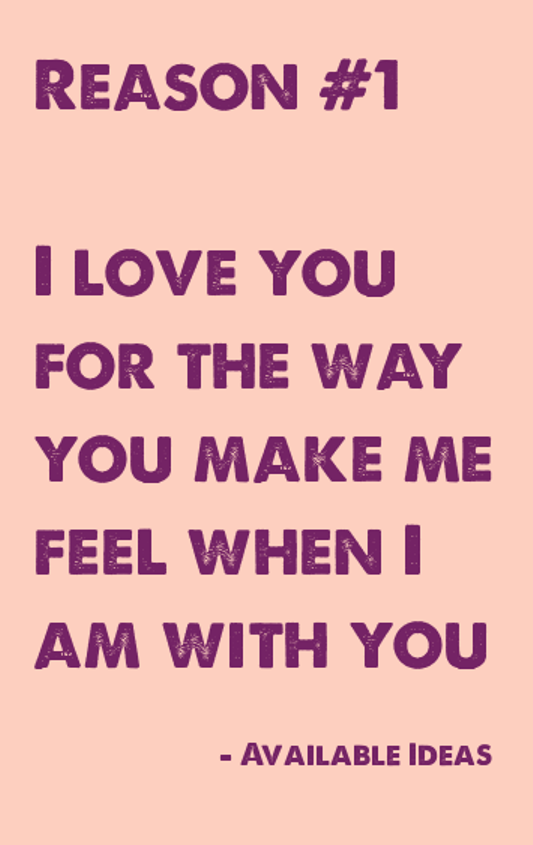 52 Reasons Why I Love You Love Quotes Available Ideas