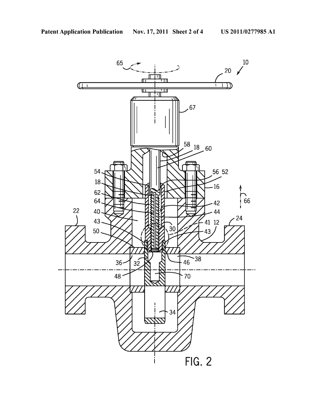 Drive Sleeve And Sealing Mechanism For Non Rising Stem Gate Valve