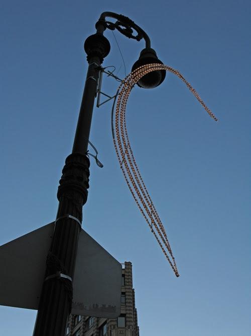 lamppost decoration, West Village, NYC